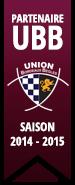 Partenaire UBB : Saison 2014 - 2015
